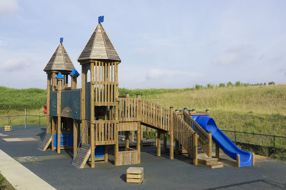 Wood playground wooden play structures