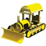 Wood playground wooden bulldozer