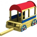 Wood playground wooden chuck wagon
