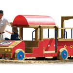 Wood playground wooden fire engine