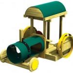wood playground tractor